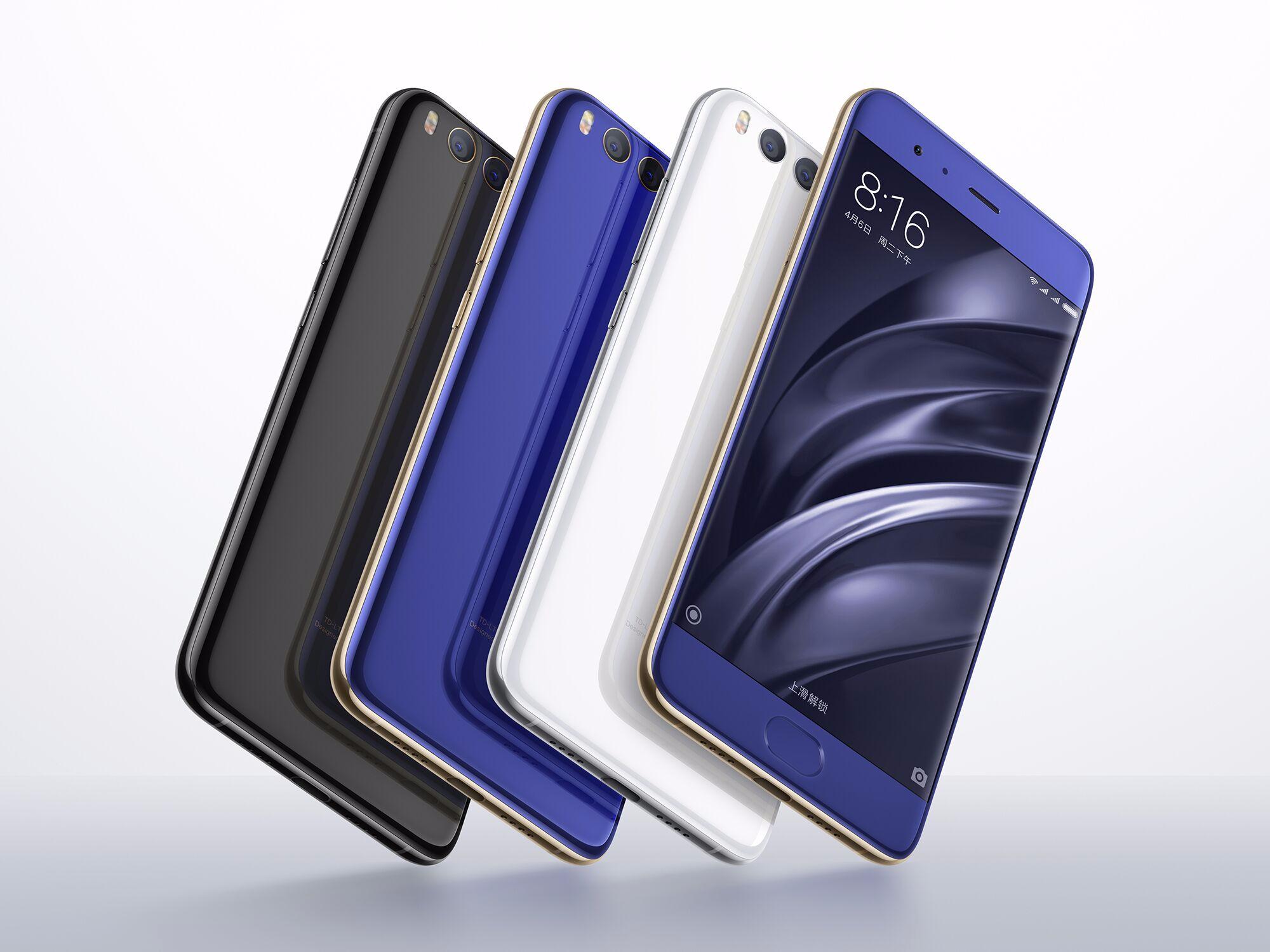 Xiaomi 6 kopen in verschillende kleuren