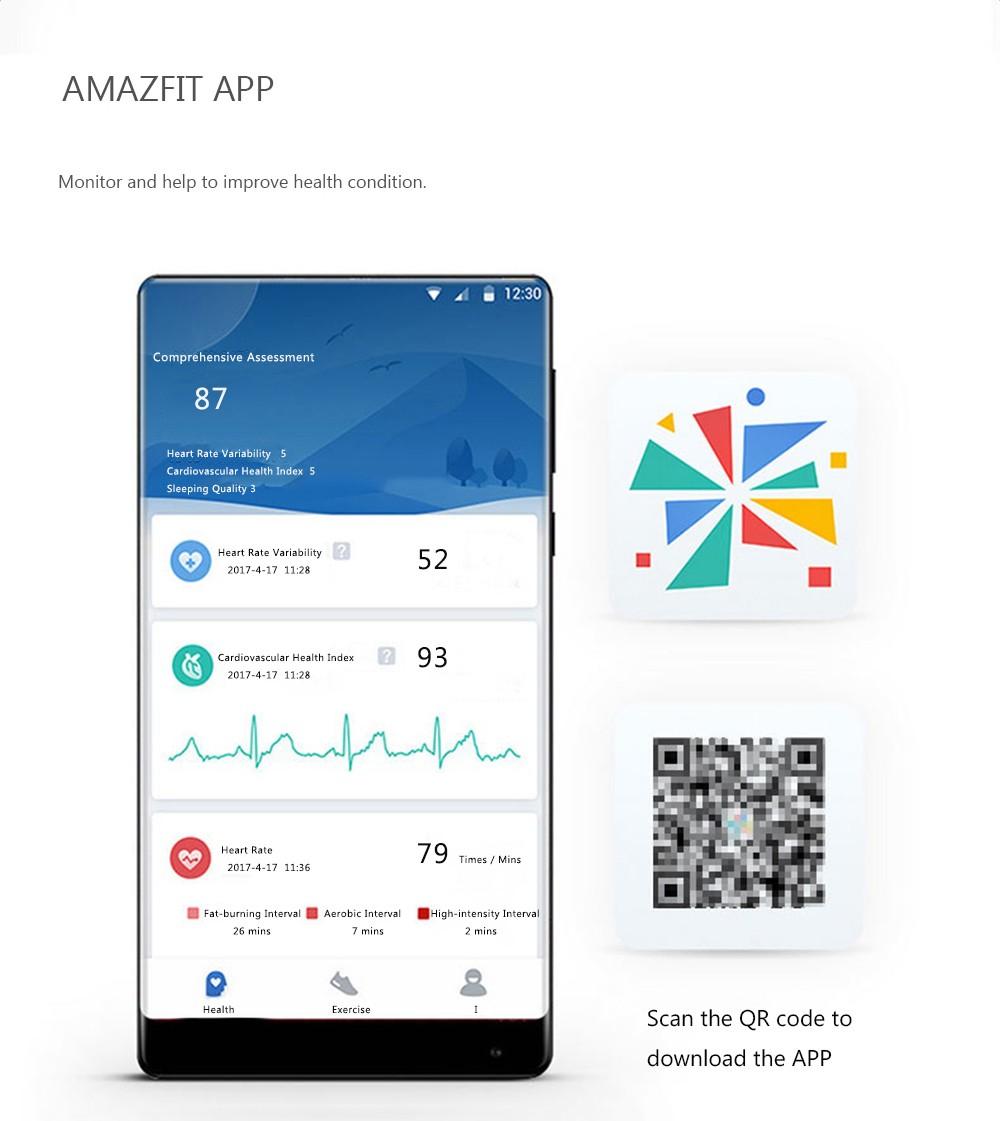 Scherm voorbeeld Xiaomi amazfit